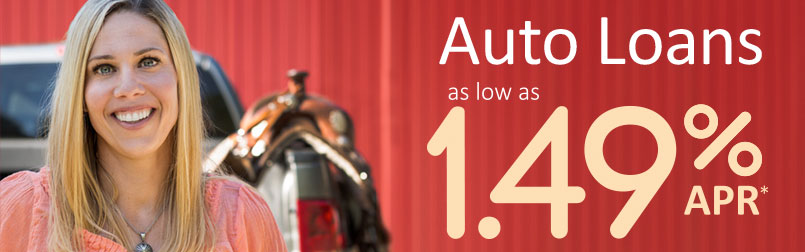 KCU Auto Loans as low as 1.49% APR (refers to the minimum Annual Percentage Rate)